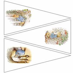 Peter Rabbit printable Bunting template 5 by DreamscapeDigitals