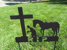 Cross Personalized Metal Pet Memorial Dog Memorials Grave Marker Signs Cat Horse Wedding Gift Address Markers Sign Powder Coat Painted 16 Gauge Steel RIPetMemorials.etsy.com
