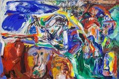 Asger Jorn, In the beginning was the image, 1965, oil on canvas.