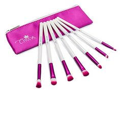 Cheeva Beauty Deluxe 7 Piece Eye Brush Set for the Perfect Makeup Application Quality Synthetic Fibers Create a Neutral Colorful or Smokey Eye Look with This Complete Cosmetic Brush Kit >>> Learn more by visiting the image link. Best Makeup Brushes, Eye Brushes, It Cosmetics Brushes, Makeup Brush Set, Best Makeup Products, Makeup Kit Essentials, Best Foundation Makeup, Best Teeth Whitening Kit, Cat Eye Makeup