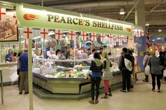Bull Ring Indoor Market shellfish stall