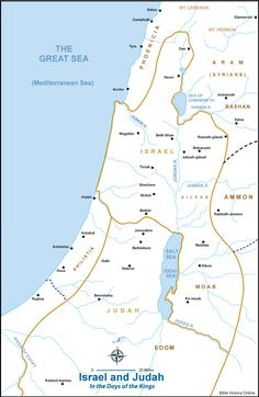 Map of Israel and Judah in the Book of Kings