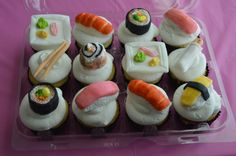 Sushi Cupcake toppers.
