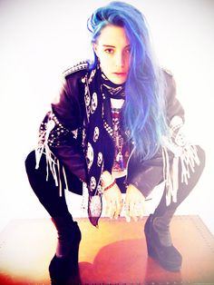 Blue hair, don't care.