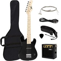 "New 30"" Kids Black Electric Guitar With Amp & Much More G..."