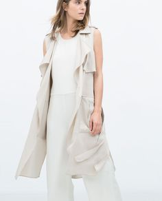 Sooo cute with all white | LONG WAISTCOAT-TRF-NEW THIS WEEK | ZARA United States