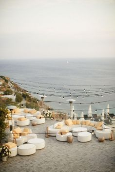 sea side wedding venue in Greece wedding reception 8 Steps to a Chic Wedding In Greece! Beach Wedding Reception, Beach Wedding Decorations, Chic Wedding, Wedding Events, Perfect Wedding, Beach Weddings, Wedding Receptions, Santorini Wedding Venue, Elegant Wedding