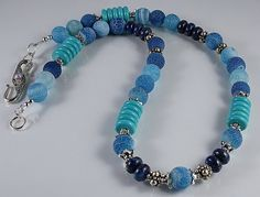 Mooie snakeskin agate lapis lazuli turquoise howlite ketting/collier