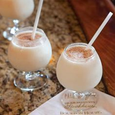 Frozen Bourbon Milk Punch from the Bourbon House Restaurant in New Orleans - courtesy of Louisiana Cookin' Magazine