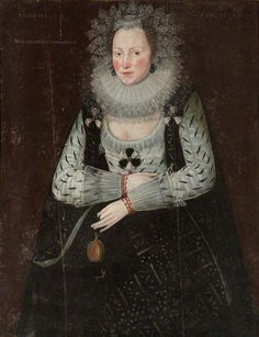 Portrait of a LadyPortrait of a Lady (presumed to be Anne Fettiplace, Mrs Henry Jones I) by British (English) School, National Trust     Date painted: 1614     Oil on panel, 98 x 75 cm National Trust, Chastleton House