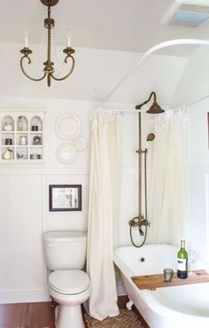 45 Amazing Farmhouse Master Bathroom Remodel Ideas