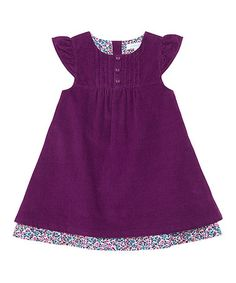 Love this Plum Corduroy Cap-Sleeve Dress - Infant, Toddler & Girls by JoJo Maman Bébé on #zulily! #zulilyfinds