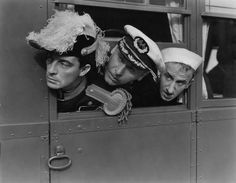 Admiral Keaton and his crew, Lew Cody and Jimmy Durante