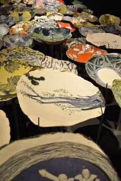 Ruan Hoffmann's pottery why do I think plates must be uniform in shape ? I love these free forms