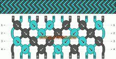 Friendship Bracelet Pattern #3414