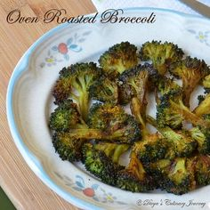 Broccoli roasted in the oven with Indian spices