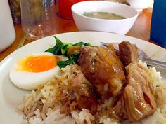 braised pork knuckle and rice