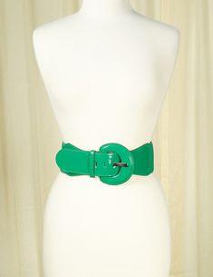 Green Elastic Cinch Belt #newarrivals #retro #accessories #pinup