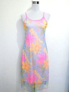 pastel tropical Hawaiian floral orchid dress with by VintageHomage, $15.00