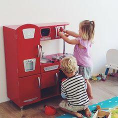 Red Vintage Kitchen Kidkraft Playkitchens Toys