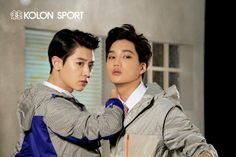 [OFFICIAL] 140321 EXO for Kolon Sport + BTS haha Chanyeol must be happy~