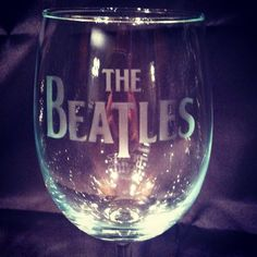 Beatles wine glass handmade, etched, and dishwasher safe!! Awesome quality!