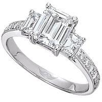 3 stone center 1.25ct emerald cut diamond :)
