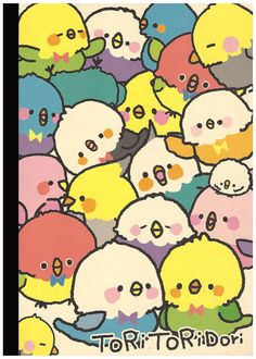 Kamio Tori Tori Rainbow Birds B5 Notebook