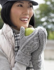 Kids Tri-Color Mittens | Yarn | Free Knitting Patterns | Crochet Patterns | Yarnspirations