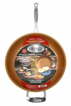 "Gotham Steel 12.5"" Titanium Ceramic Copper Fry Pan As seen on TV #Gotham"