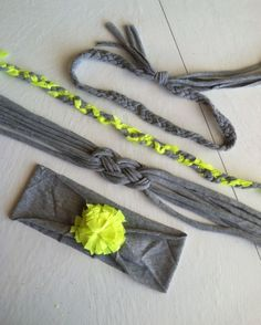 4 #upcycled headbands from 2 T-Shirts-Great #DIY #tutorial by Mandy from Junk in the Trunk Vintage Market ! | See more about Headbands, Trunks and Knotted Headband.