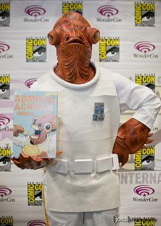 Admiral Ackbar, Starwars cosplay.