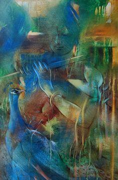 Balaji Ubale | Paintings by Balaji Ubale | Balaji Ubale Painting - SuchitrraArts.com Lord Shiva Hd Wallpaper, Lord Krishna Wallpapers, Radha Krishna Wallpaper, Lord Krishna Images, Radha Krishna Pictures, Krishna Photos, Lord Shiva Painting, Krishna Painting, Cute Krishna