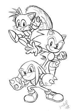 Dibujos Para Pintar Sonic #dibujos #dibujosparapintar #
