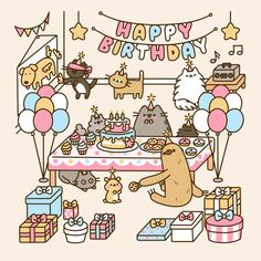 Ĥάνέ ªŊĭŒ Ðάγ — Happy Birthday Pusheen!