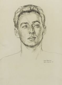 Paul Cadmus 1904 - 1999 GEORGE PLATT LYNES signed Paul Cadmus, titled George Platt Lynes and dated 37 (lower right) black ink on paper 13 1/2 by 10 inches (34 by 25.5 cm)
