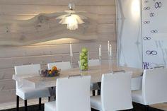 Olohuoneen liukuovet (asiakkaan itse teippaamalla kuvioimat) Dining Table, Interior Design, Furniture, Home Decor, Nest Design, Decoration Home, Home Interior Design, Room Decor, Dinner Table