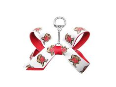 University of Maryland Mini Bow Keychain