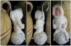Belznickle Blogspot : Craft a Snow Baby From Cotton Batting