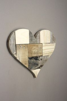 Wooden Heart. Wall art. Pieces of my Heart. Reclaimed wood.