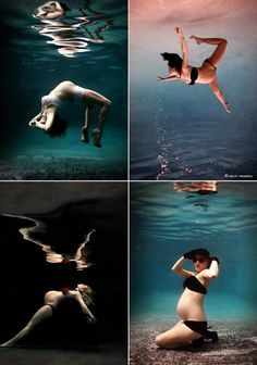 Underwater maternity session