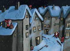 Santa Claus in the city