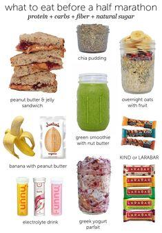What to Eat Before a Half Marathon | Lauren Lives Healthy #runningnutrition