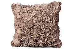 How beautifully romantic! Roses 20x20 Pillow, Beige on OneKingsLane.com