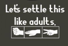 Can't argue with rock, paper, scissors