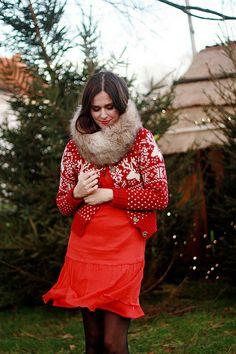 1af798aeee Red Christmas cardigan Christmas Cardigan