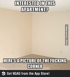 thanks. i worry about the corner space. Lol property management problems