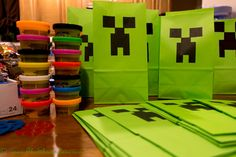 When I agreed to a Minecraft themed birthday party I thought it would easy. Minecraft is huge right now, so I'll be able find supplies pretty much anywhere, right? Naturally, I le…