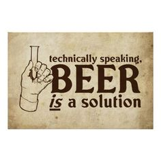technically speaking, Beer is a solution.