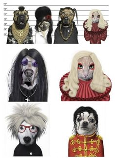 Famous faces...pets by Takkoda!